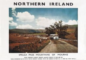 Spelga Pass, Mountains of Mourne. Ulster Transport and British Rail Travel Poster.